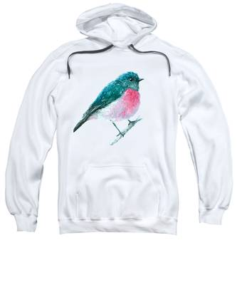 Rose Robin Oil Painting Sweatshirt