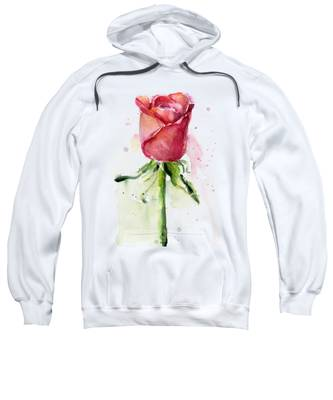 Rose Hooded Sweatshirts T-Shirts