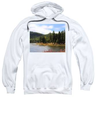 Sweatshirt featuring the painting Salmon Lake Montana by Susan Kinney