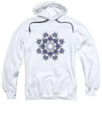 Silver Fractal Snowflake Sweatshirt