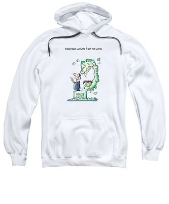 Sweatshirt featuring the digital art Sometimes Words Eat Us by Mark Armstrong