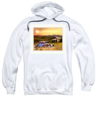 Sweatshirt featuring the painting Spent by Susan Kinney