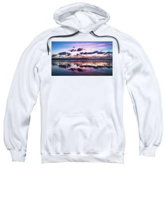 Sunrise Pink Wisps Delray Beach Florida Sweatshirt