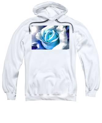 Turquoise Rose Sweatshirt
