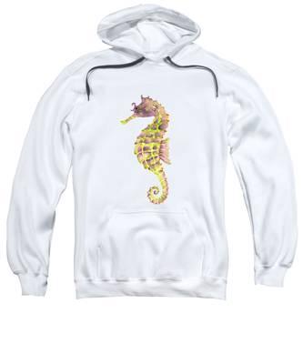 Violet Green Seahorse Sweatshirt