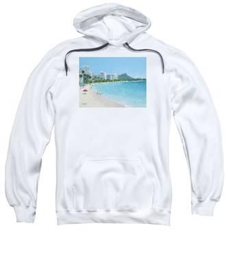 Waikiki Beach Honolulu Hawaii Sweatshirt