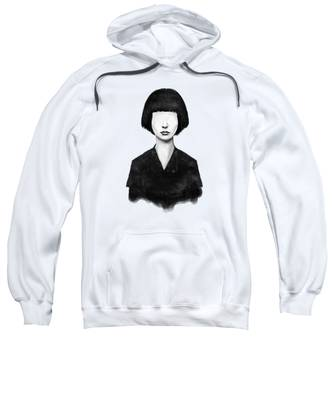 Black And White Hooded Sweatshirts T-Shirts