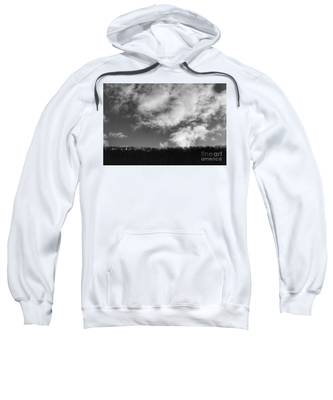 Winter Clouds Over The Delaware River Sweatshirt