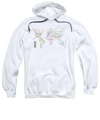 World Metro Tube Subway Map Sweatshirt