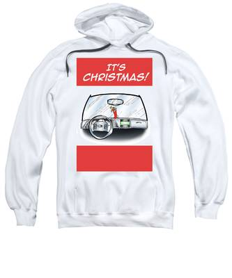Sweatshirt featuring the digital art Hang Up Stocking by Mark Armstrong