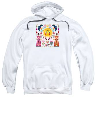 Exotic Flower Hooded Sweatshirts T-Shirts