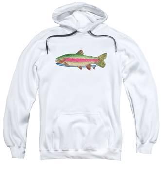 Rainbow Trout Hooded Sweatshirts T-Shirts