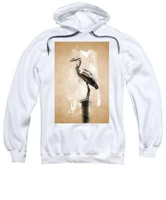 Heron On Post Sweatshirt