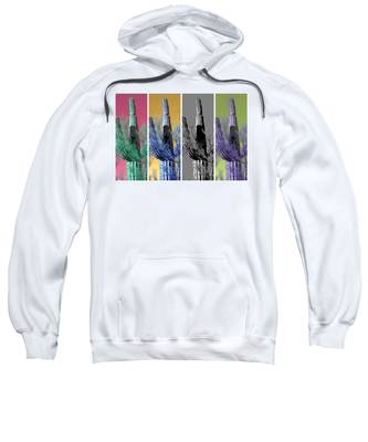 Sweatshirt featuring the photograph Pop Saguaro Cactus by Judy Kennedy