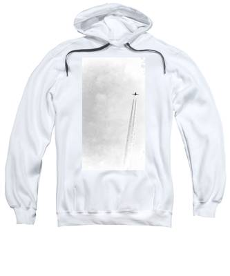 Sweatshirt featuring the photograph Silver Escape by Judy Kennedy