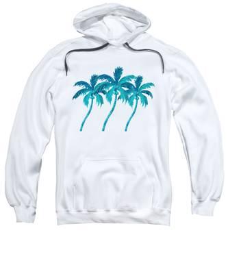 Three Coconut Palm Trees Sweatshirt