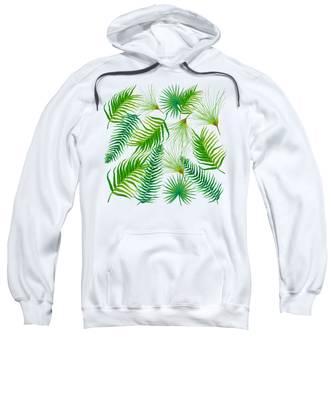 Tropical Leaves And Ferns Sweatshirt