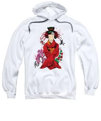 Geisha Hooded Sweatshirts T-Shirts