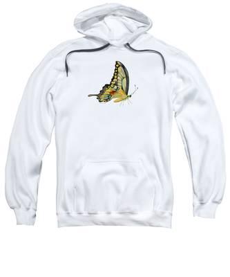 Swallowtail Hooded Sweatshirts T-Shirts