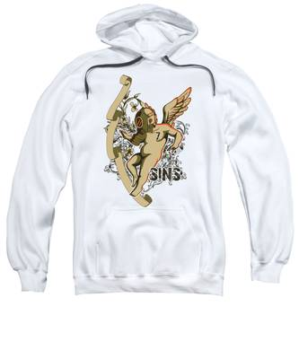 Floral Hooded Sweatshirts T-Shirts