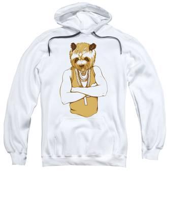 Brown Hooded Sweatshirts T-Shirts