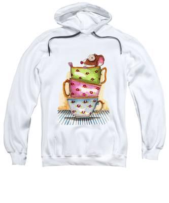 Tea Cup Hooded Sweatshirts T-Shirts