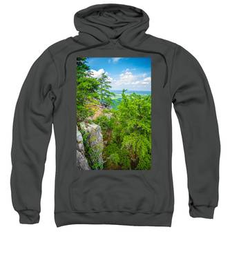 Beautiful Aerial Landscape Views From Crowders Mountain North Ca Sweatshirt
