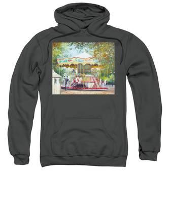 Carousel In Montmartre Paris Sweatshirt