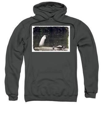 Egret And Turtles Sweatshirt