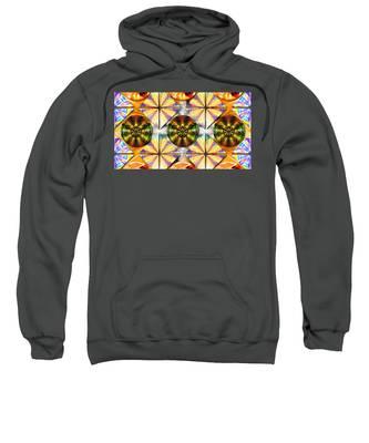 Sweatshirt featuring the drawing Geometric Dreamland by Derek Gedney