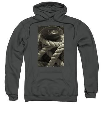 Hold On Black And White Sepia Sweatshirt