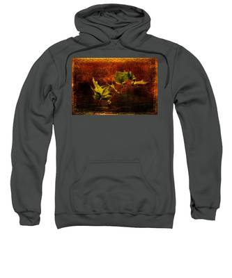 Leaves On Texture Sweatshirt