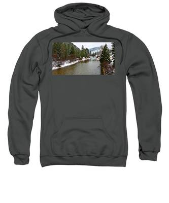Sweatshirt featuring the photograph Montana Winter by Susan Kinney