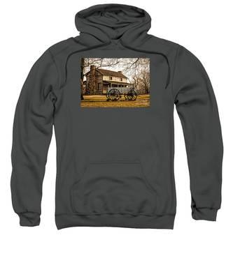Old Log Cabin In Autumn Sweatshirt