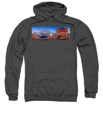 Panorama Giant Dipper Goes 360 Round And Round Sweatshirt