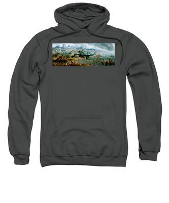 Panorama With The Abduction Of Helen Amidst The Wonders Of The Ancient World Sweatshirt