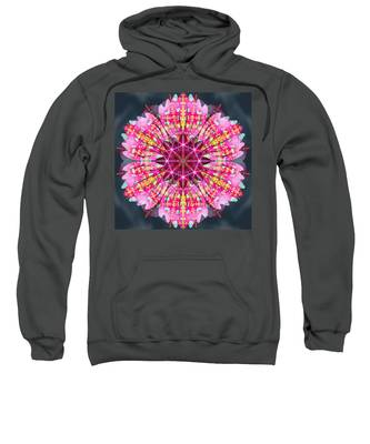 Sweatshirt featuring the digital art Pink Lightning by Derek Gedney