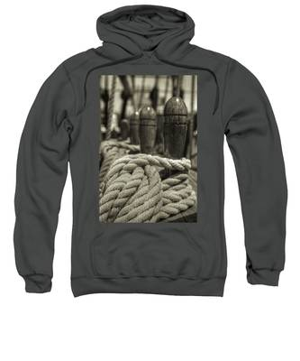 Ready For Work Black And White Sepia Sweatshirt
