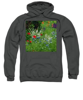 Squarely Spring Floral Garden Sweatshirt