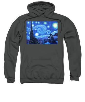 Starry Night Border Collies Sweatshirt