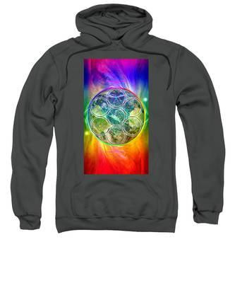 Tetra64 Polarity Earth Sweatshirt by Derek Gedney