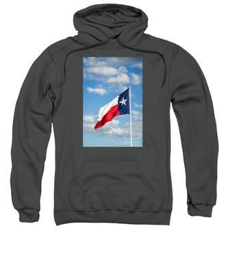 Texas State Flag Waving Sweatshirt