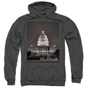 United States Capitol At Night Sweatshirt