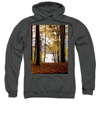 Sweatshirt featuring the photograph View Of  Lake Mcdonald by Susan Kinney