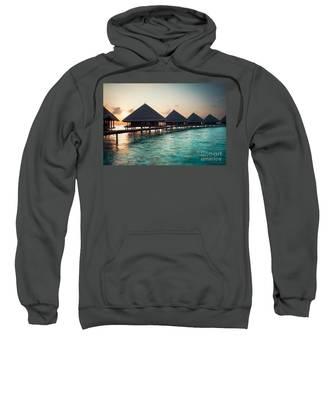 Waterbungalows At Sunset Sweatshirt