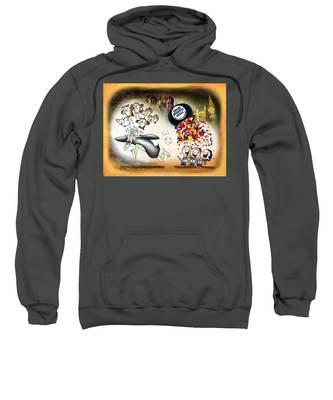 Sweatshirt featuring the digital art Bertie Bott's Beans by Mark Armstrong