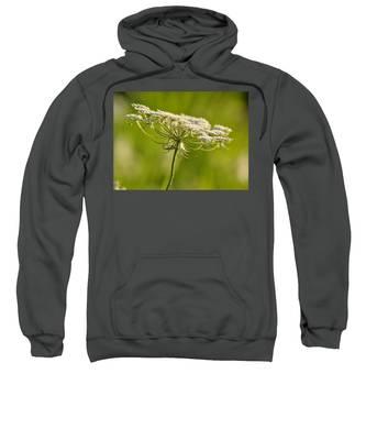 Lacy White Flower Sweatshirt