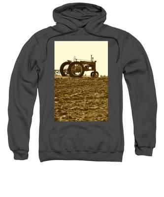 Old Tractor I In Sepia Sweatshirt