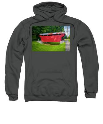 Feedwire Covered Bridge - Carillon Park Dayton Ohio Sweatshirt