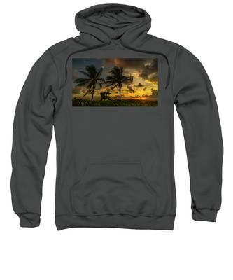 Two Palm Sunrise Delray Beach Florida Sweatshirt